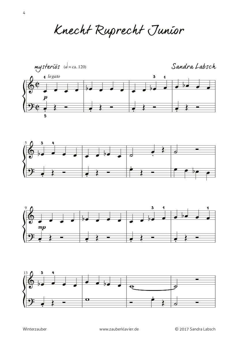 Klaviernoten   S. Labsch \